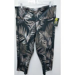 "Champion Tropical Leaf 20"" Duo Dry Capri Pants XXL"